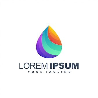 Awesome gradient drop logo design