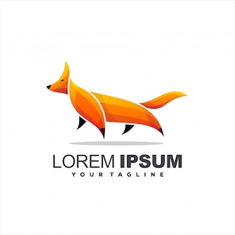 Awesome gradient fox logo
