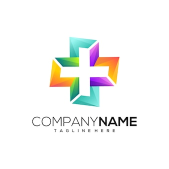 Awesome gradient health logo template