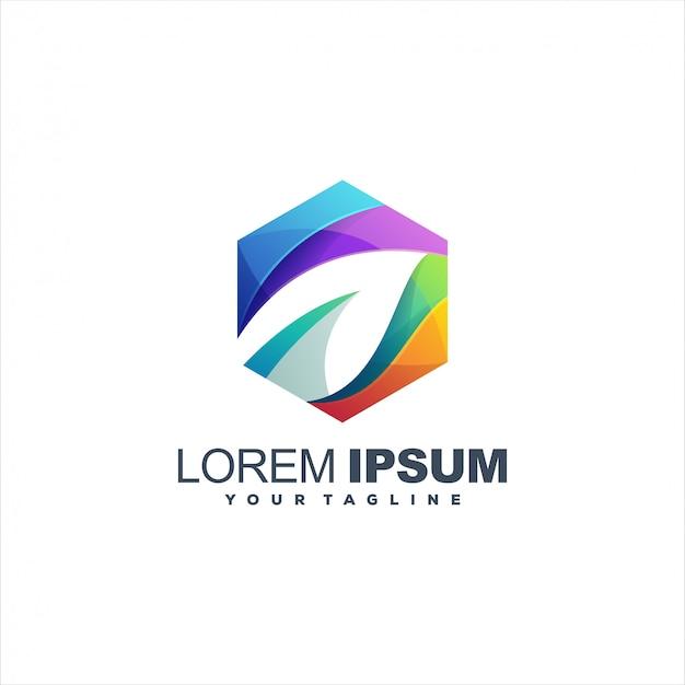 Awesome gradient leaf logo design