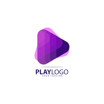 Awesome gradient play logo