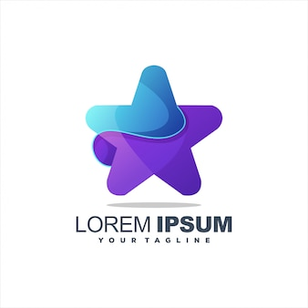 Awesome gradient star logo