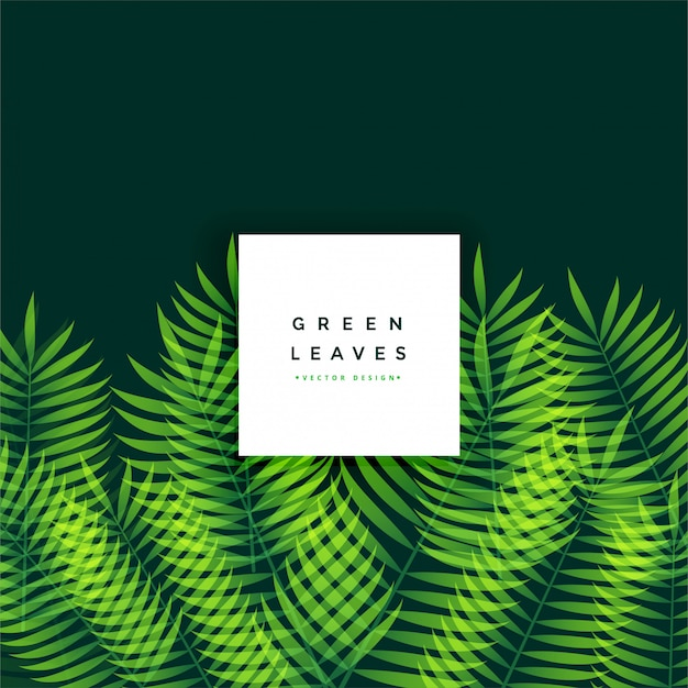 Awesome green leaves background design