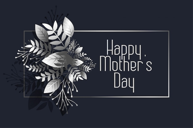 Awesome happy mother's day dark greeting