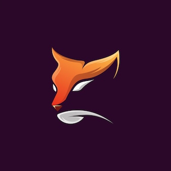 Awesome head cat illustration design