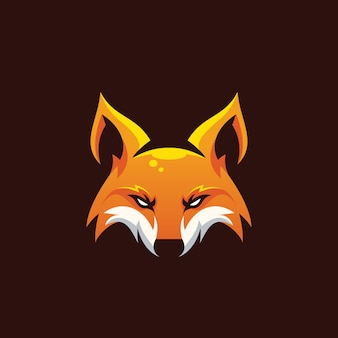 Awesome head fox illustration