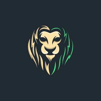 Awesome head lion illustration