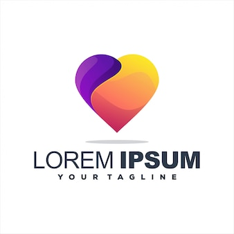 Awesome heart gradient logo design
