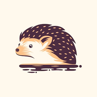 Awesome hedgehog illustration design