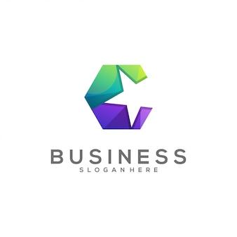 Awesome hexagon c color logo
