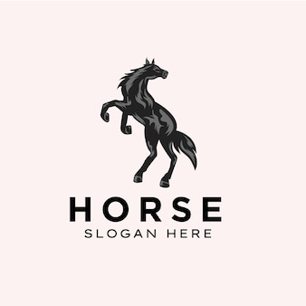 Awesome horse logo template