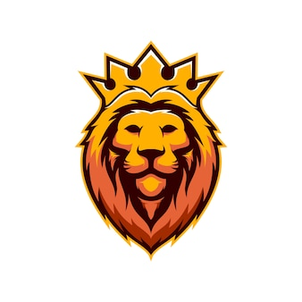 Awesome king lion mascot