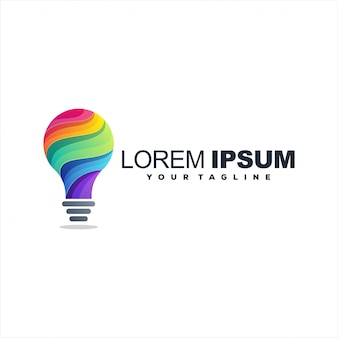 Awesome lamp gradient logo design