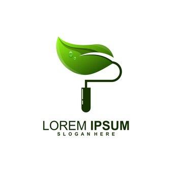 Awesome leaf paint logo