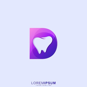 Awesome letter d dental premium logo