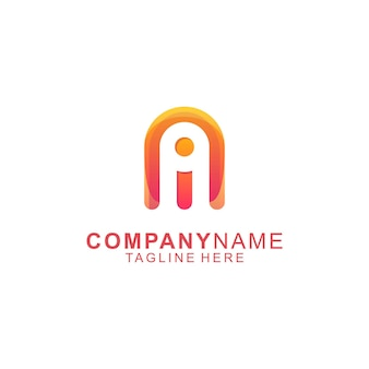 Awesome letter a rocket people premium logo vector