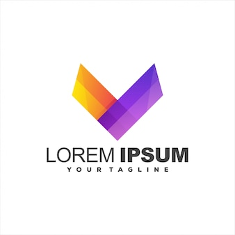 Awesome letter v logo
