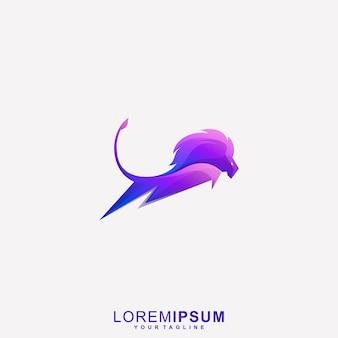 Awesome lion bolt   logo