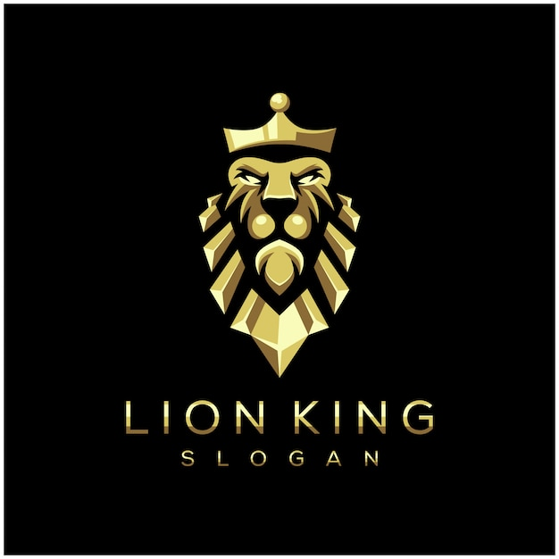 Awesome lion king logo vector illustration