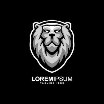 Awesome lion logo design illustration