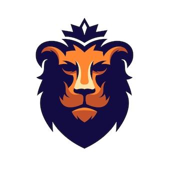 素晴らしいライオンのロゴデザイン