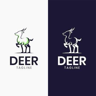 素晴らしい小さな鹿のロゴのテンプレート