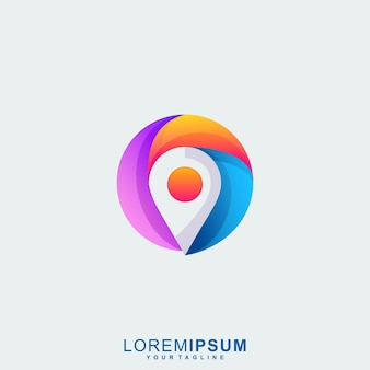 Awesome location logo