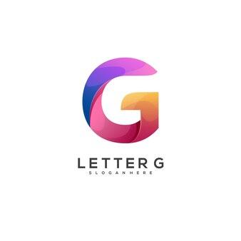 멋진 로고 g 편지 화려한 그라데이션