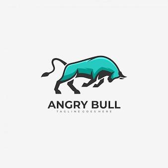 Awesome   logo illustration bull