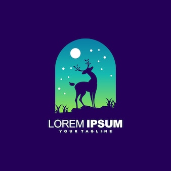 Awesome logo template with deer