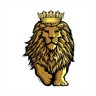 Awesome mascot lion logo