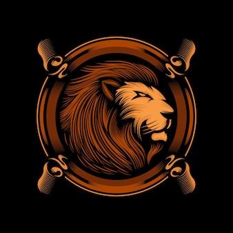 素晴らしいマスコットライオンのロゴ