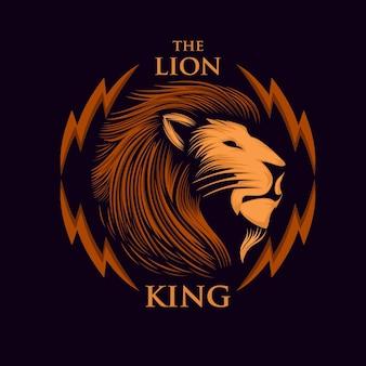 Awesome mascot lion logo