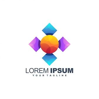 Удивительный медиа логотип шаблон