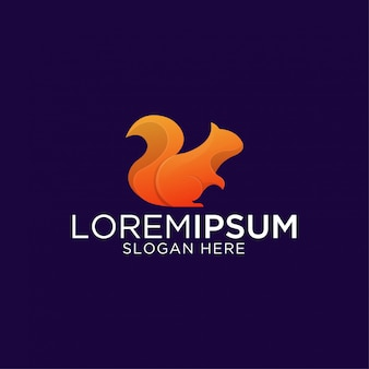 Awesome modern squirrel premium logo template