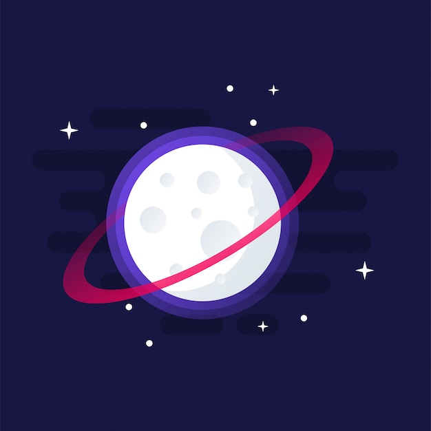 Awesome moon clip-art design