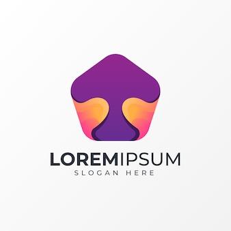 Awesome mushroom gradient logo