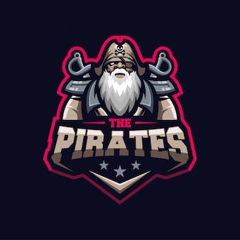 Шаблон логотипа awesome old man