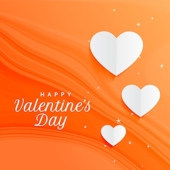 Awesome orange hearts background for valentines day