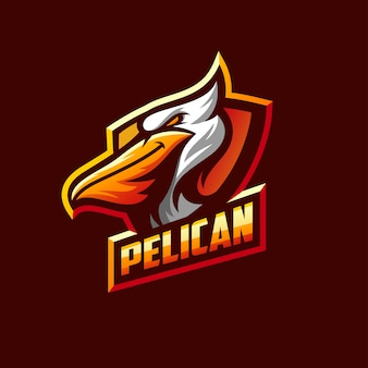 Awesome pelican logo sport template