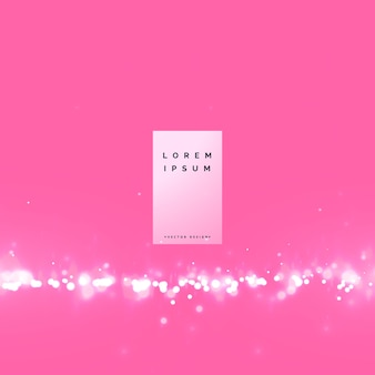 Awesome pink bokeh background with particle effect