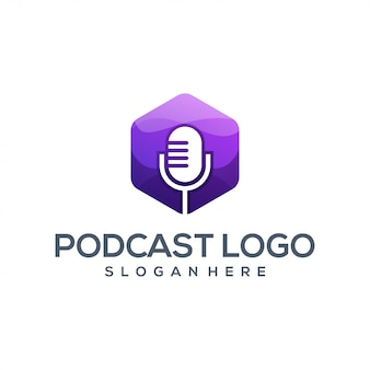 Awesome podcast logo vector illustrator