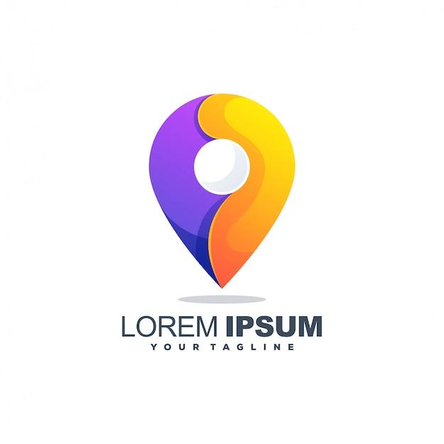 Awesome pointer color logo design