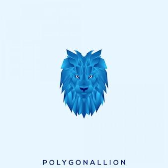 素晴らしいポリゴンライオンプレミアムロゴ