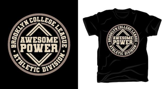 멋진 파워 타이포그래피 티셔츠 디자인