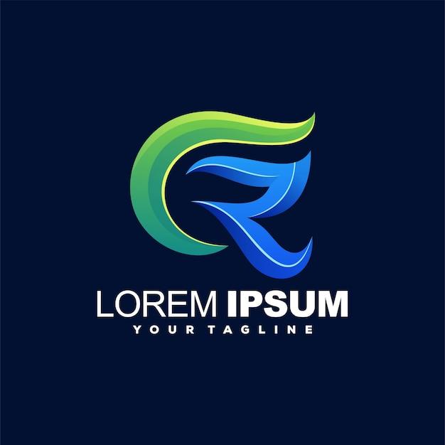 Awesome r color logo design