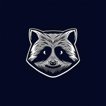 Awesome racoon logo  illustration
