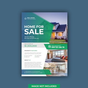 Awesome real estate flyer template
