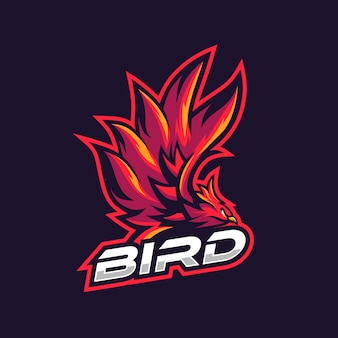 Awesome red bird illustration for gaming squad