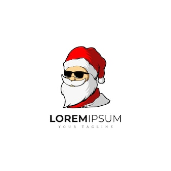 Awesome santa clause merry christmas logo